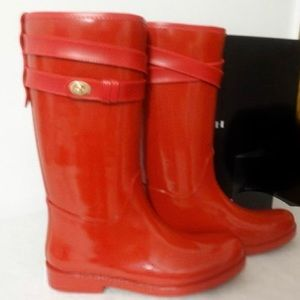 Coach Rubber Rain Boots New in Box